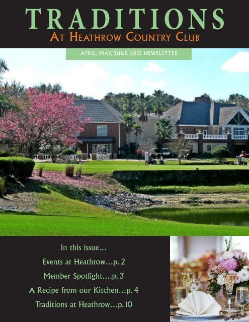 April/May/June 2013 - Heathrow Country Club