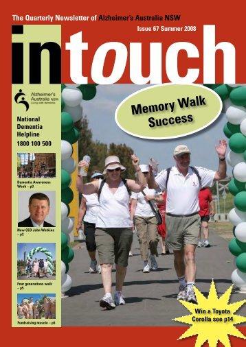 Issue 67 Summer 2008 (PDF) - Alzheimer's Australia