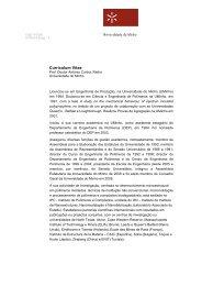 Curriculum Vitae - Universidade do Minho