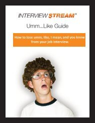 Umm...Like Guide - Interview Stream - InterviewStream