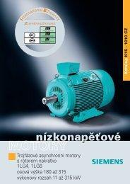 Elektromotory Siemens řada 1LG4/6 - MOTOR-GEAR as
