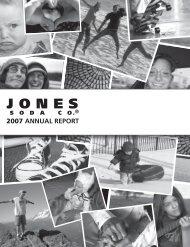 2007 Annual Report - Jones Soda