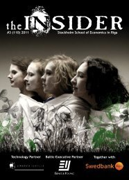 The Insider 1 - Stockholm School of Economics in  Riga Students ...