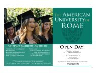 Open Day HS Flyer - The American University of Rome