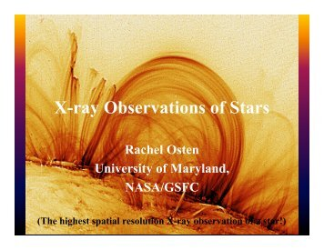 X-ray Observations of Stars - HEASARC - NASA