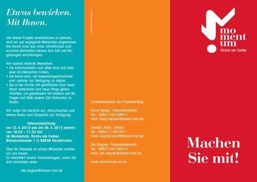 Info-Flyer - Kath. Kirchengemeinde St. Marien Neunkirchen