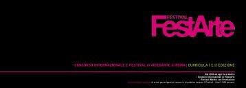 CONCORSO INTERNAZIONALE E FESTIVAL di ... - FestArte