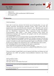 med update 02-09 - Die Aidshilfen Österreichs