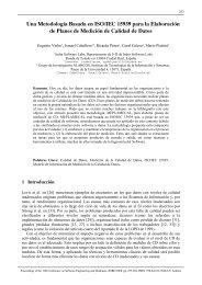 Una Metodología Basada en ISO/IEC 15939 para la ... - Grupo Alarcos