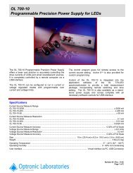 OL 700-10 Programmable Precision Power Supply for LEDs