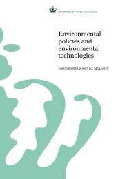 Environmental policies and environmental ... - Miljøstyrelsen