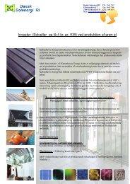 Invester i Solceller og få 4 kr. pr. KWt ved produktion af grøn el