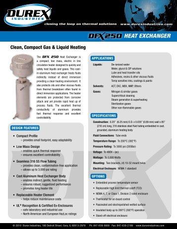 DFX 250 Exchanger Information Sheet - Durex Industries