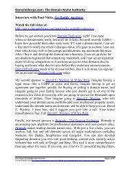 Paul Nicks Interview Transcript in PDF Format - DomainSherpa