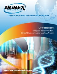Life Sciences Brochure - Durex Industries