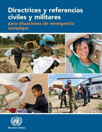 Directrices y referencias civiles y militares