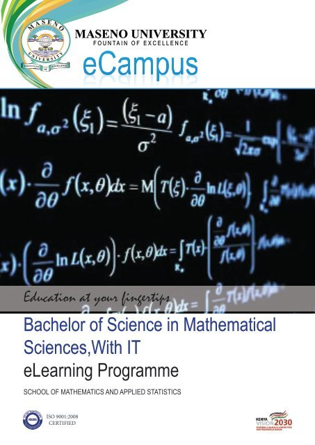 Bachelor of Science in Mathematical Sciences,With IT eLearning ...