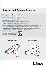 Brause- und Wannen-Armatur - sanitop wingenroth