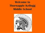 Welcome to Thornapple Kellogg Middle School