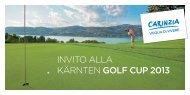 INVITO ALLA KÄRNTEN GOLF CUP 2013