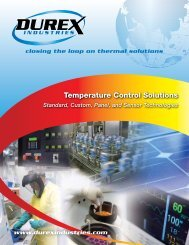 Temperature Control Solutions Brochure - Durex Industries