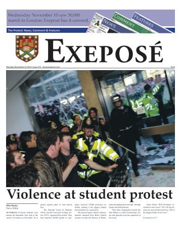 Violence at student protest - Exeposé - University of Exeter