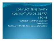 CSA CONTEXT ANALYSIS PRESENTATION ... - Conflict Sensitivity