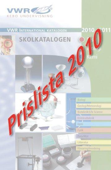 Prislista 2010