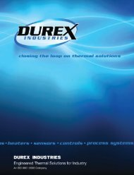 Closing the Loop on Thermal Solutions - Durex Industries