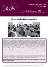 La lettre d'actualités financières n°3 de mars 2012 ... - Cédis Formation