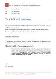 Kan det passe at Herlev kommune ikke ønsker skatte kr. ?