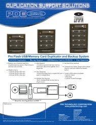 Pro Flash USB/Memory Card Duplicator and Backup System