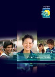 2013 Curriculum Guide - Brighton Secondary School