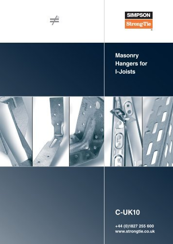 Masonry Hangers for I-Joists - Simpson Strong-Tie