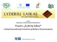 Projekto - Lyderių laikas - Švietimo ir mokslo ministerija