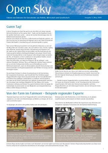 Guten Tag! Von der Farm ins Fairmont – Beispiele regionaler Exporte