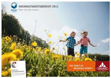 Nachhaltigkeitsbericht 2011 - Montagne-Sport GmbH
