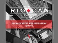 View this Presentation (PDF 2.40 MB) - RioCan