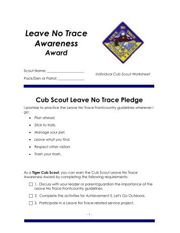 Cub Scout Belt Loop And Pin Requirements Worksheets - Education ...