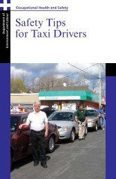 Safety Tips for Taxi Drivers - Government of Nova Scotia
