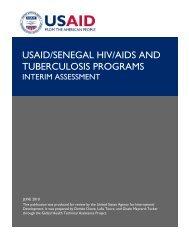 USAID/Senegal HIV/AIDS and Tuberculosis Programs - GH Tech