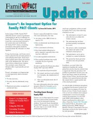 Essure ® : An Important Option for Family PACT Clients (PDF)