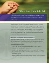 When Your Child is in Pain - Caring Connections