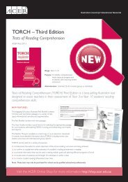 TORCH – Third Edition - ACER