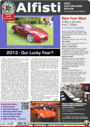 2013 - Our Lucky Year? - Alfa Romeo Owners Club