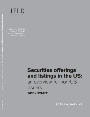 an overview for non-us issuers 2005 update - IFLR.com
