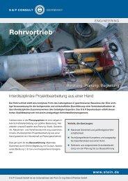 Rohrvortrieb - Beratung, Planung, Begleitung - S & P Consult GmbH