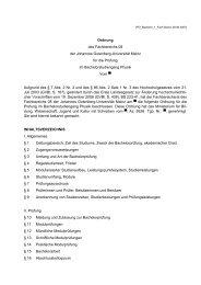 Bachelor of Science: Physik - im Fachbereich Physik, Mathematik ...