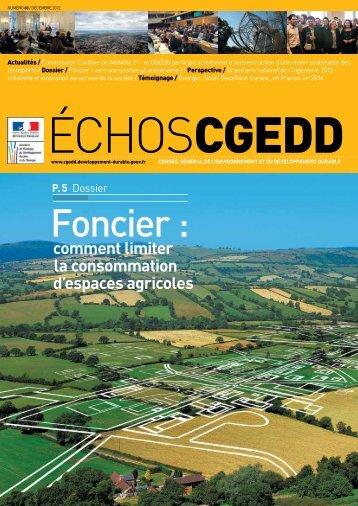 Les EchosCGEDD n°68 - décembre 2012 - Ministère du ...