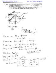 FINAL EXAM SOLUTIONS, TAM 202 Sping, 2001. Solutions by Ying ...